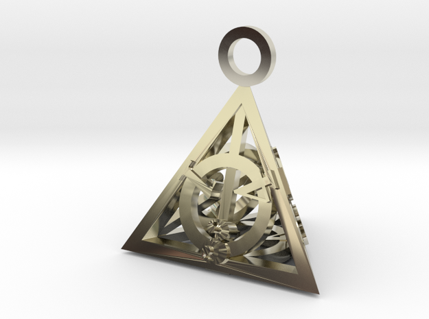 Deathly Hallows Pendant 3d printed