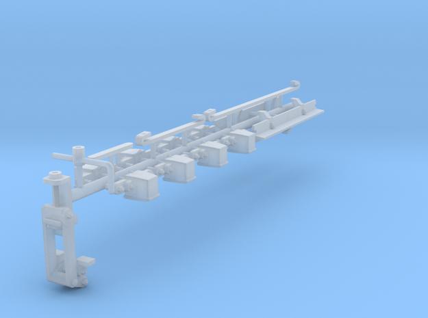 GN 15 Zurüstteile für Rechteckunterwagen in Smooth Fine Detail Plastic
