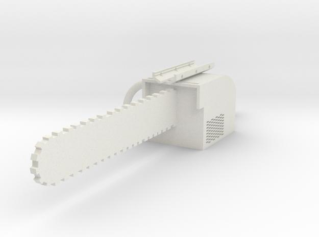 Chainsaw Bayonet in White Natural Versatile Plastic