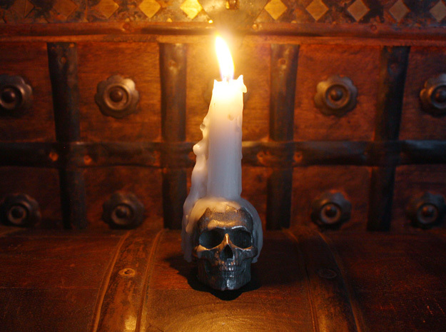 Yorick Skull Candle Holder