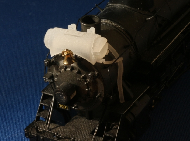Elesco Water Heater HO Scale to Fit Bachman 2-8-4 3d printed Add a caption...