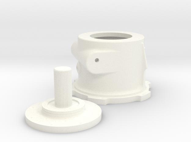 1/8 Scale Lenco Tranny Reverse Section in White Processed Versatile Plastic