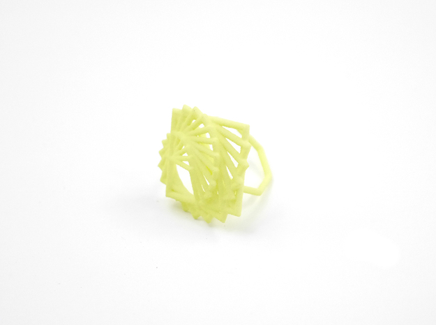 Arithmetic Ring (Size 7) 3d printed Key Lime Nylon (Custom Dyed Color)