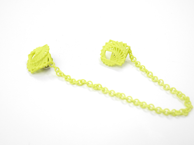 Arithmetic Collar Tips 3d printed Key Lime Nylon (Custom Dyed Color)