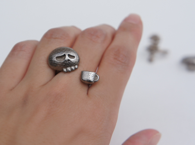 Coffee Driner Ring - size 8 in Stainless Steel