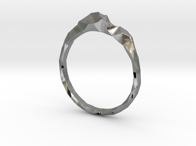 Shard Ring Asymmetrical in Natural Silver