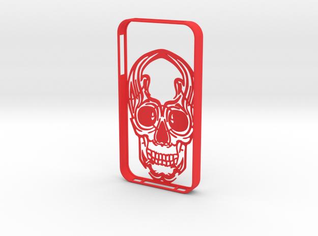 IPhone4s Case Scull in Red Processed Versatile Plastic