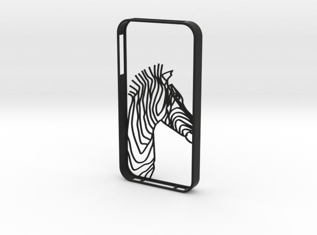 Zebra Head Case Iphone4s in Black Natural Versatile Plastic