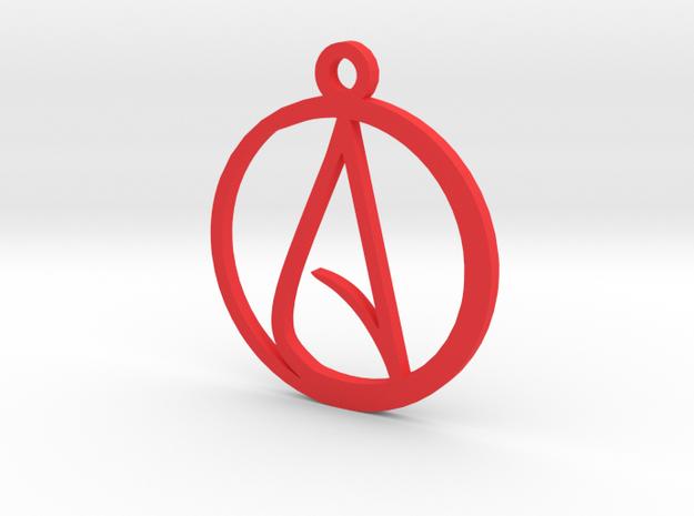 Atheist Pendant 3d printed