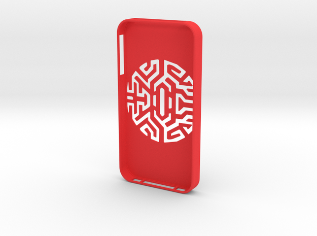 iPIphone 4/4s Case Goth Tribal in Red Processed Versatile Plastic
