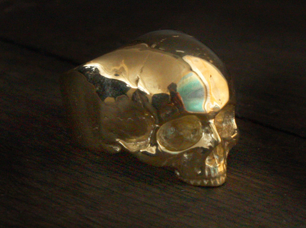 Yorick Memento Mori Skull Ring size 6 in 18K Gold Plated