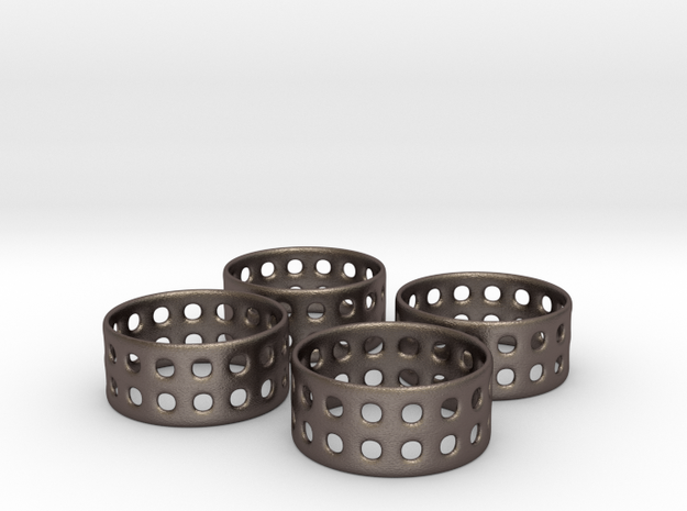 Double Bubble Napkin Rings (4) 3d printed