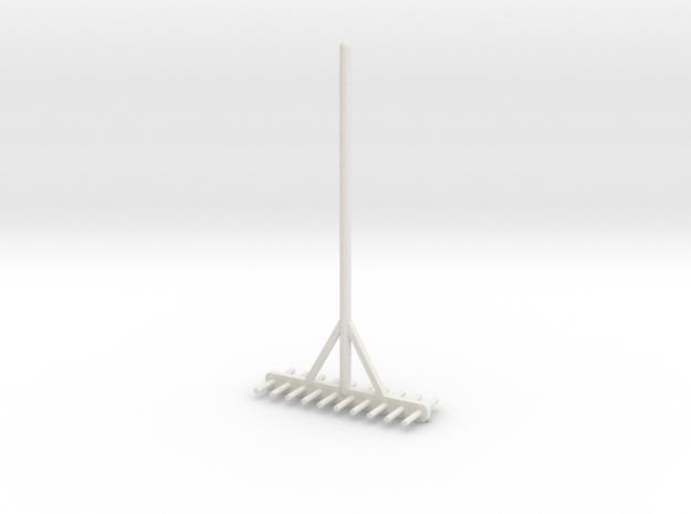 Miniature rake 1/12 in White Natural Versatile Plastic