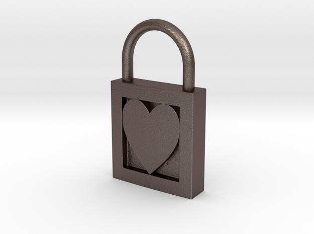 Heart Padlock 3d printed