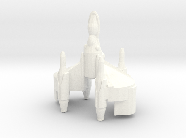 Gunstar X-wing Stylized in White Processed Versatile Plastic