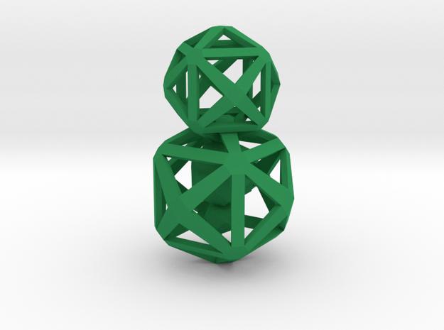 Polyhedron Snowman Pendant 3d printed