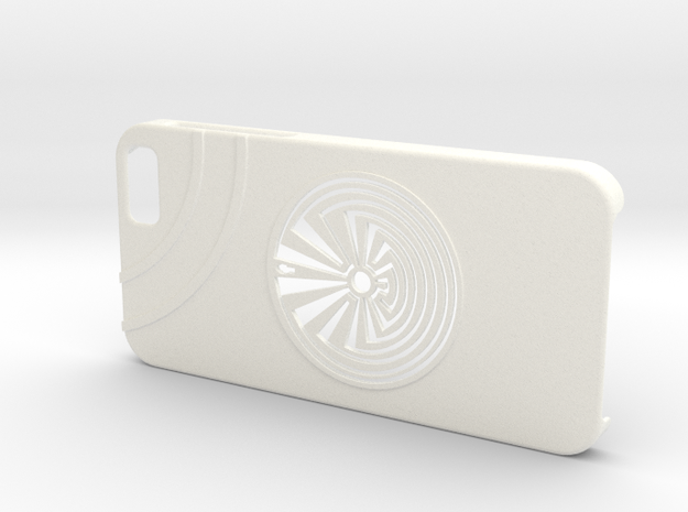 Man In The Maze iPhone 6 Case in White Strong & Flexible Polished