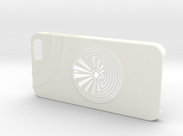 Man In The Maze iPhone 6 Case in White Processed Versatile Plastic