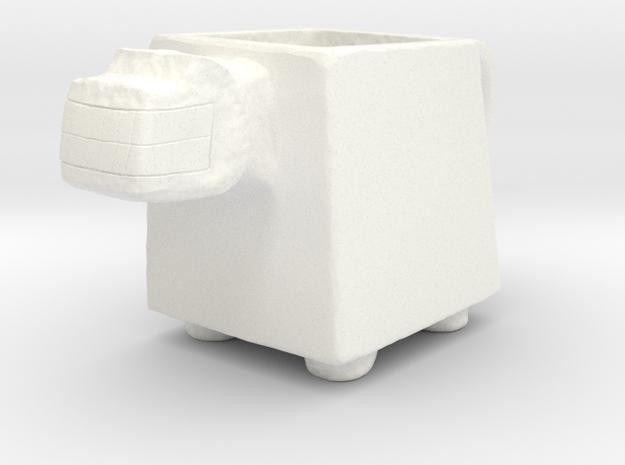 Pre Columbian Mug in White Strong & Flexible Polished