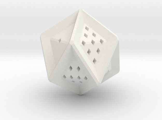10 sided die in White Strong & Flexible