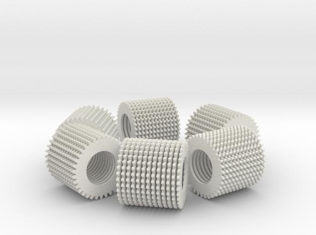 loop test part (78 loose parts) in White Natural Versatile Plastic