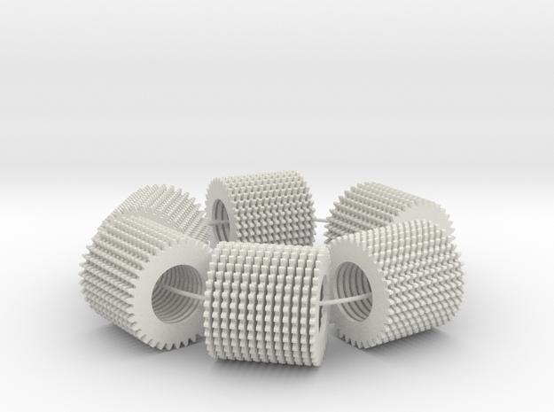 loop test (78 parts on a loop) in White Natural Versatile Plastic