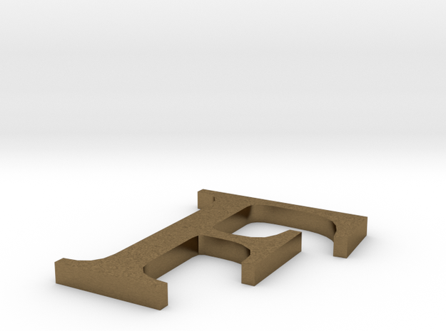 Letter-F in Natural Bronze
