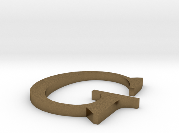 Letter-G in Natural Bronze