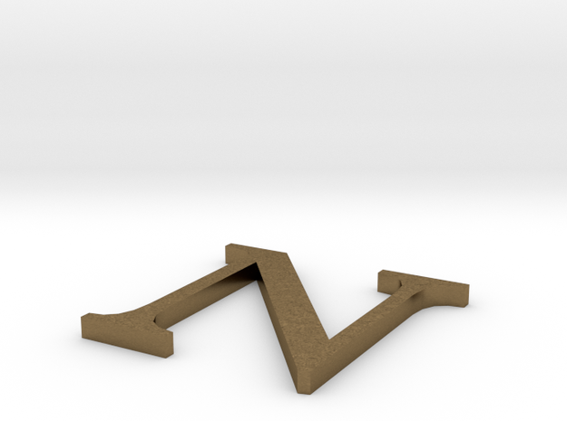 Letter-N in Natural Bronze