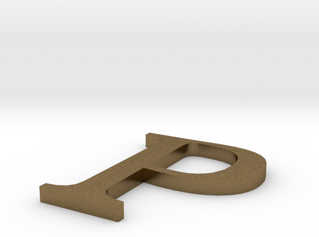 Letter-P in Natural Bronze