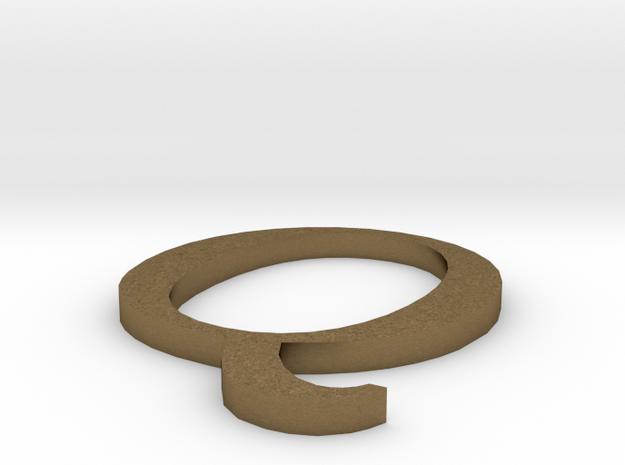 Letter-Q in Natural Bronze