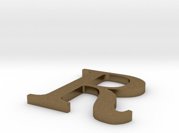Letter-R in Natural Bronze