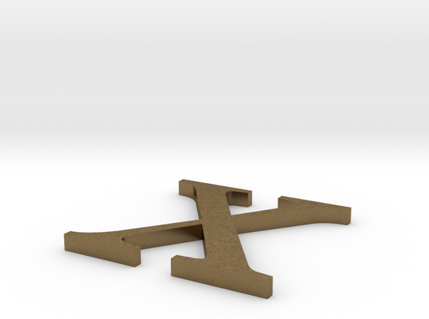 Letter-X in Natural Bronze