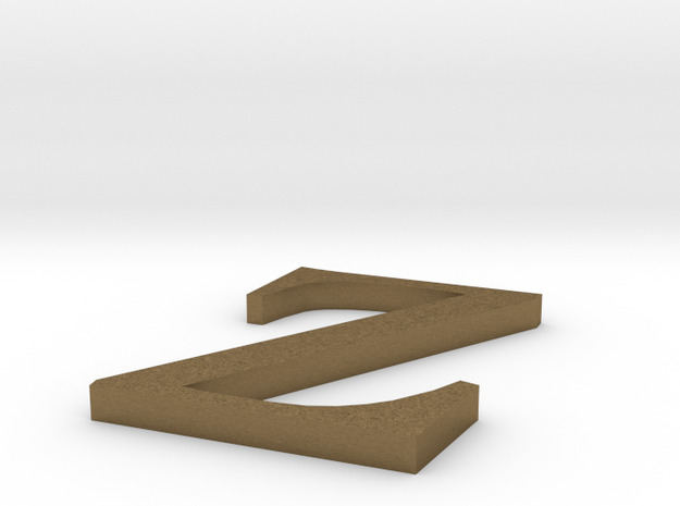 Letter-Z in Natural Bronze