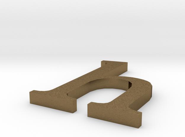 Letter- h in Natural Bronze