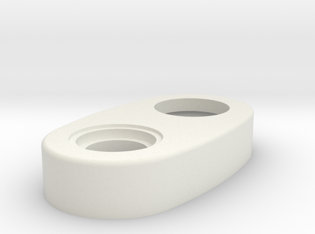 Mechanical - Top Cap Thicker Version in White Natural Versatile Plastic