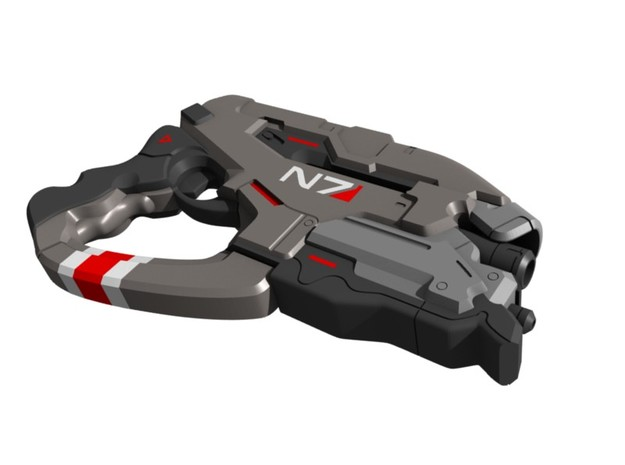 Mass Effect - 1:8 scale - N7 Eagle in White Natural Versatile Plastic