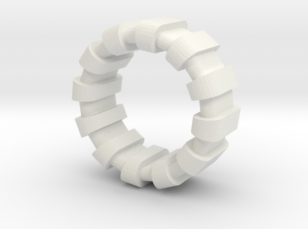 Style Ring colorful  in White Natural Versatile Plastic