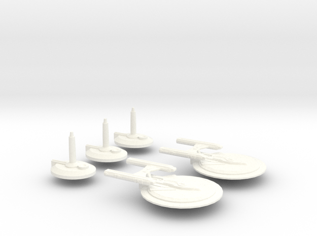USS Cogent in White Processed Versatile Plastic