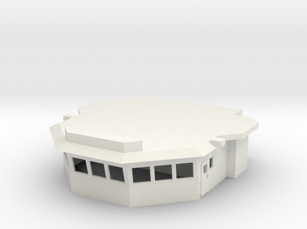 1/96 scale Basic Perry Bridge in White Natural Versatile Plastic