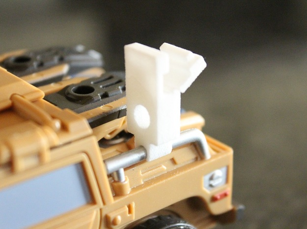 Warbotron WB01-C Canon Shoulder Mount 5mmPeg Hinge in White Natural Versatile Plastic