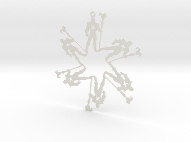 Snowflake Skeletor Ornament 3d printed