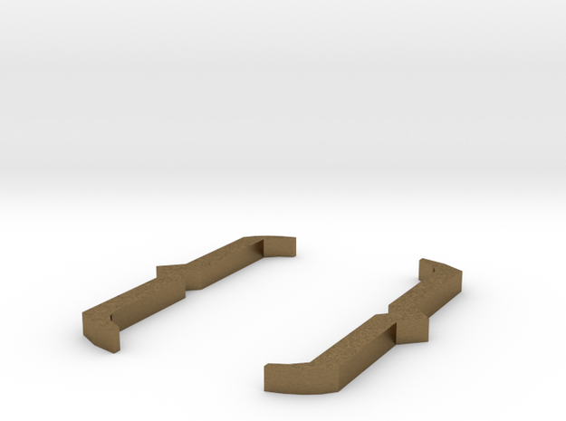 Curly Brackets - { } in Natural Bronze