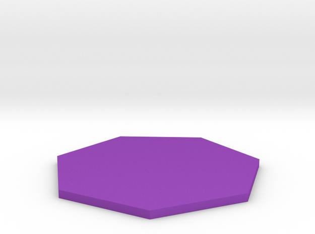 Heptagon in Purple Processed Versatile Plastic