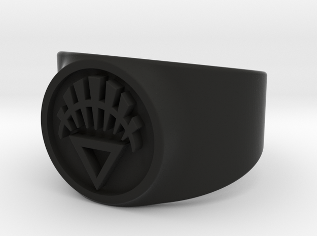 White Life GL Ring Sz 11 3d printed
