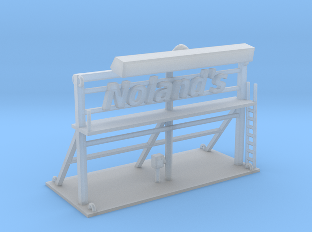 Nolands Roof Top Sign Z Scale in Frosted Ultra Detail