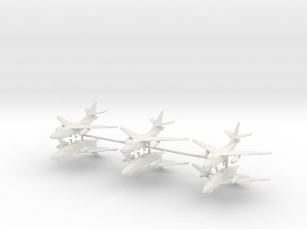 1/350 A-3B Skywarrior (x6) in White Natural Versatile Plastic