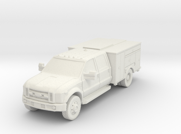 1/87 HO F-450 Mod 1 NO Lights in White Natural Versatile Plastic