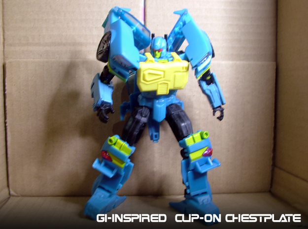 Gen. Nightbeat Upgrade Kit #2 - G1 Box-Art Chest in Yellow Strong & Flexible Polished