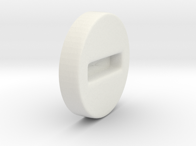 Iron Man mk III - Helmet Fastener in White Natural Versatile Plastic